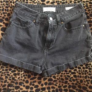 PACSUN black denim mom shorts